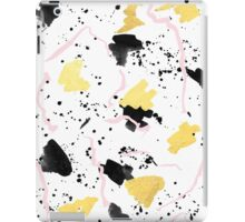 Rose Gold Pastel abstract painting dots brushstrokes minimal foil trendy urban art iPad Case/Skin