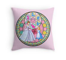 Cinderella/Alice Station of Awakening Design Throw Pillow