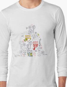 Cute owl and flowers  T-Shirt