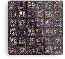 Encaustic Dark Rainbow Metal Print