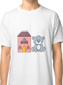 Cute bear and flowers  Classic T-Shirt