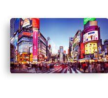 People crossing street in Shibuya Tokyo art photo print Canvas Print