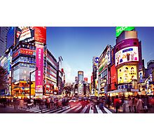 People crossing street in Shibuya Tokyo art photo print Photographic Print