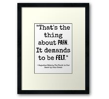 TFiOS Quote Framed Print