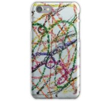 Colorful Oil Pastel Scribbles iPhone Case/Skin