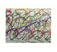 Colorful Oil Pastel Scribbles Art Print