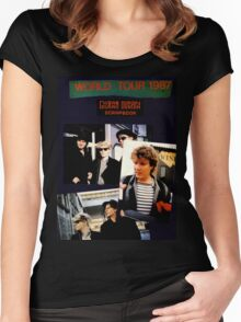 Vintage Duran Duran  Women's Fitted Scoop T-Shirt