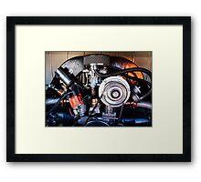 VW Engine Framed Print