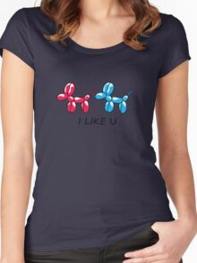 i like you  Women's Fitted Scoop T-Shirt