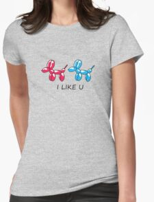 i like you  Womens Fitted T-Shirt
