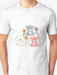 Cute bear and flowers 2  Unisex T-Shirt