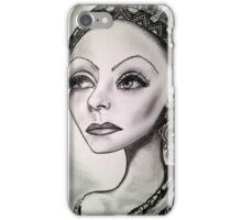 Greta Garbo caricature iPhone Case/Skin