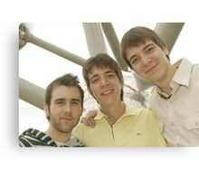 James, Oliver and Matthew Canvas Print
