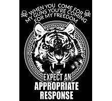 Angry Tiger When you come for my Guns T-shirt Stickers Case Freedom Photographic Print