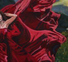 Lady in Red Sticker