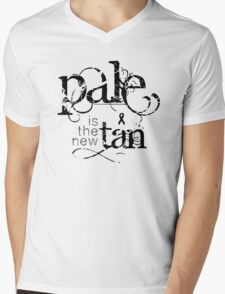 Pale is the New Tan Mens V-Neck T-Shirt