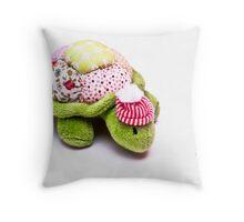 Toy Tortoise Throw Pillow