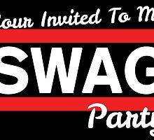 SWAG Invitation - Run Dmc Style by CreativoDesign