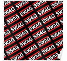 SWAG Pattern - Run Dmc Style Poster