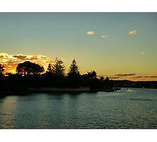 Autumn River Sunset Photographic Print