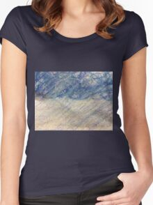 Rain Storm in Oil Pastels Women's Fitted Scoop T-Shirt