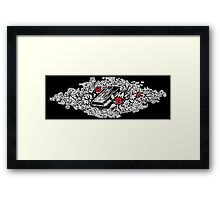 Roses and Bible, Biblical, Book, Religion, Belief, Goth, Gothic, Vampire Framed Print