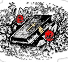 Roses and Bible, Biblical, Book, Religion, Belief, Goth, Gothic, Vampire Sticker