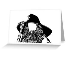 Ian as The Grey Wizard vacant expression Greeting Card