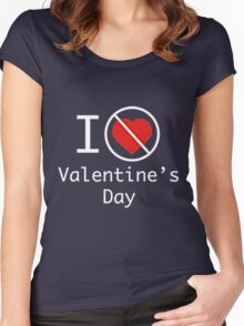 I HATE VALENTINE DAY Women's Fitted Scoop T-Shirt