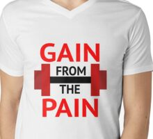 No Pain, No Gain. Mens V-Neck T-Shirt