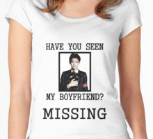EXO Chanyeol - Have You Seen My Boyfriend Women's Fitted Scoop T-Shirt