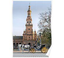 Seville - A view of Plaza de Espana  Poster