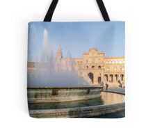 Plaza de Espana and its fountain - Seville Tote Bag