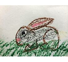Little Bunny in Oil Pastels Photographic Print