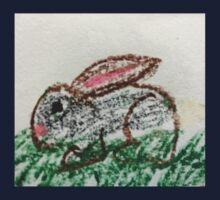 Little Bunny in Oil Pastels Kids Tee