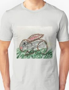 Little Bunny in Oil Pastels T-Shirt