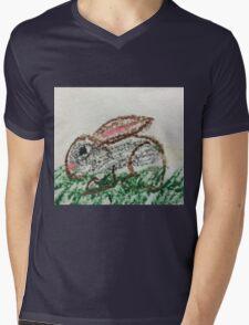 Little Bunny in Oil Pastels Mens V-Neck T-Shirt