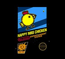 Happy Mrs Chicken Throw Pillow by Russ Jericho