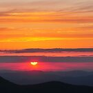 sunset on Mt Mitchell by dc witmer