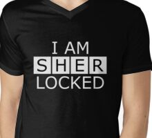 I AM SHERLOCKED Mens V-Neck T-Shirt