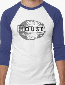 House M.D. Brain Anatomy Men's Baseball ¾ T-Shirt