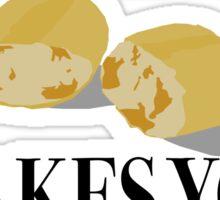 Scott Pilgrim-Bread Makes You Fat? Sticker