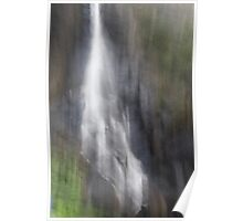 The waterfall. Poster