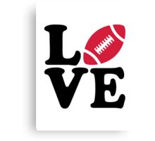Football love Canvas Print