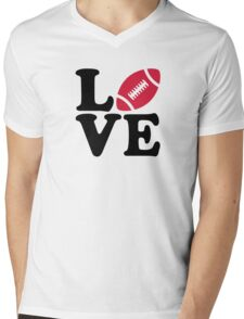 Football love Mens V-Neck T-Shirt