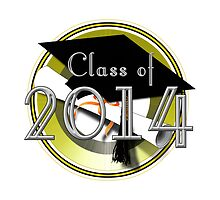 Graduation Class of 2014 In Gold Circle by Gravityx9