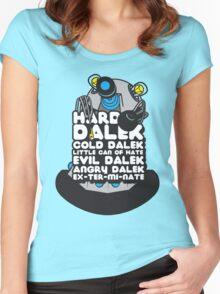 Hard Dalek Cold Dalek New Design (Grey/Blue) Women's Fitted Scoop T-Shirt