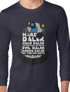 Hard Dalek Cold Dalek New Design (Grey/Blue) Long Sleeve T-Shirt