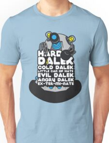 Hard Dalek Cold Dalek New Design (Grey/Blue) Unisex T-Shirt