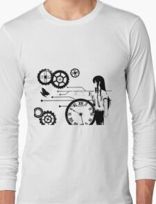 Steins;Gate - Kurisu Makise Trapped in Time Long Sleeve T-Shirt